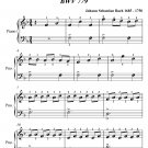Invention Number 8 BWV 779 Easiest Piano Sheet Music PDF