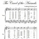 Friendly Beasts the Carol of the Animals Easy Piano Sheet Music PDF