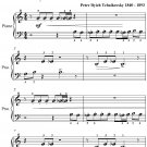 Dance of the Little Swans Beginner Piano Sheet Music PDF