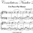 Consolations Number 2 Easy Piano Sheet Music PDF