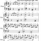 March the Nutcracker Suite Easiest Piano Sheet Music PDF