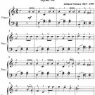 Philomelen Waltz Easy Piano Sheet Music PDF