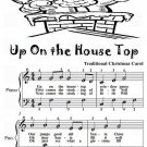 Up On the House Top Easy Piano Sheet Music Tadpole Edition PDF