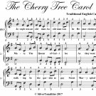 The Cherry Tree Carol Easy Piano Sheet Music