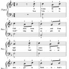 O Come Little Children Easiest Piano Sheet Music PDF