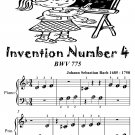 Invention Number 4 Bwv 775 Beginner Piano Sheet Music Tadpole Edition PDF