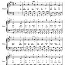 Away In a Manger Easy Piano Sheet Music PDF