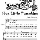 Five Little Pumpkins Beginner Piano Sheet Music Tadpole Edition
