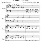 Du and Du Waltz Die Fledermaus Beginner Piano Sheet Music