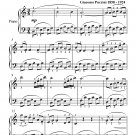 Musetta's Waltz La Boheme Easy Piano Sheet Music PDF