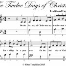 The Twelve Days of Christmas Easy Piano Sheet Music PDF