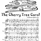 The Cherry Tree Carol Easy Piano Sheet Music Tadpole Edition PDF