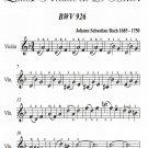 Littlest Prelude in D Minor BWV 926 Easy Violin Sheet Music PDF