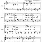 By the Light of the Silvery Moon Easy Piano PDF