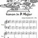 Canon in D Major Easiest Piano Sheet Music Tadpole Edition PDF