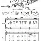 Land of the Silver Birch Easy Piano Sheet Music Tadpole Edition PDF