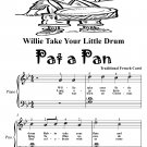 Willie Take Your Little Drum Pat a Pan Easy Piano Sheet Music Tadpole Edition PDF