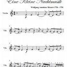 Romance Eine Kleine Nachtmusik Easy Violin Sheet Music PDF
