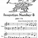 Invention Number 8 Bwv 779 Beginner Piano Sheet Music Tadpole Edition PDF
