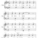 Here We Come a Wassailing Easiest Piano Sheet Music PDF