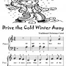 Drive the Cold Winter Away Beginner Piano Sheet Music Tadpole Edition PDF