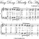 Ding Dong Merrily on High Easy Intermediate Piano Sheet Music PDF