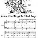 Come Mad Boys Be Glad Boys Easy Piano Sheet Music Tadpole Edition PDF