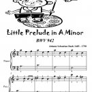 Little Prelude in A Minor Bwv 942 Easiest Piano Sheet Music Tadpole Edition PDF
