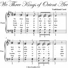 We Three Kings of Orient Are Elementary Piano Sheet Music PDF