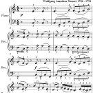 Romance Eine Kleine Nachtmusik Easy Piano Sheet Music PDF