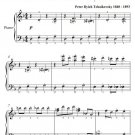 Dance of the Sugar Plum Fairy Nutcracker Suite Easy Elementary Piano Sheet Music PDF