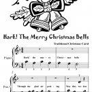 Hark the Merry Christmas Bells Beginner Piano Sheet Music Tadpole Edition PDF