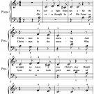 Golden Carol Beginner Piano Sheet Music PDF