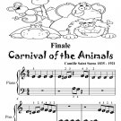 Finale Carnival of the Animals Beginner Piano Sheet Music Tadpole Edition PDF