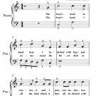 Boar's Head Carol Easiest Piano Sheet Music PDF