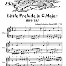 Little Prelude in C Major Bwv 933 Easiest Piano Sheet Music Tadpole Edition PDF