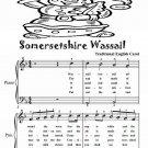 Somersetshire Wassail Easy Piano Sheet Music PDF