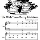 We Wish You a Merry Christmas Easy Piano Sheet Music Tadpole Edition PDF