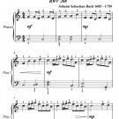 Sheep May Safely Graze Easy Piano Sheet Music PDF