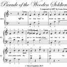 Parade of the Wooden Soldiers Easy Piano Sheet Music PDF