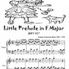 Little Prelude In F Major Bwv 927 Easiest Piano Sheet Music Tadpole Edition PDF