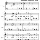 Alice Blue Gown Waltz Easy Piano Sheet Music PDF