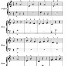 Gymnopedie Number 2 Beginner Piano Sheet Music PDF