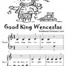 Good King Wenceslas Beginner Piano Sheet Music Tadpole Edition PDF