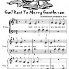 God Rest Ye Merry Gentlemen Beginner Piano Sheet Music Tadpole Edition PDF