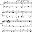 Finale the Water Music Easy Piano Sheet Music PDF