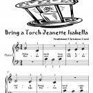 Bring a Torch Jeanette Isabella Beginner Piano Sheet Music Tadpole Edition PDF