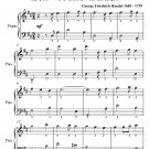 Lentement Number 4 the Water Music Easy Piano Sheet Music PDF