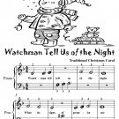 Watchman Tell Us of the Night Beginner Piano Sheet Music Tadpole Edition PDF