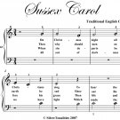 Sussex Carol Beginner Piano Sheet Music PDF